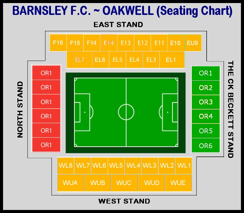 Barnsley fc stadium map
