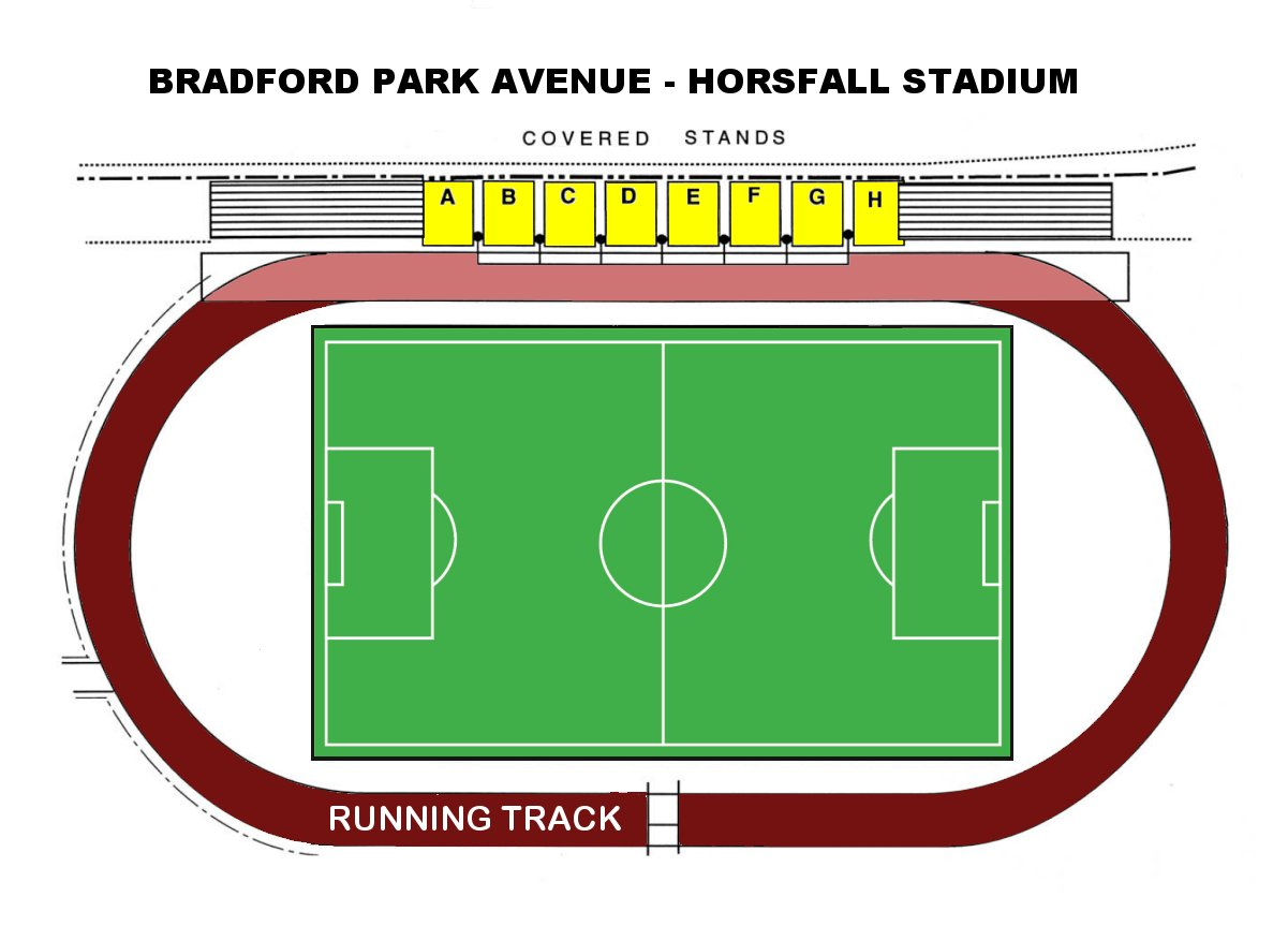 Horsfall Stadium Bradford PA Seating Diagram Click On Below To Enlarge View
