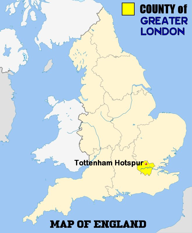 Tottenham England Map