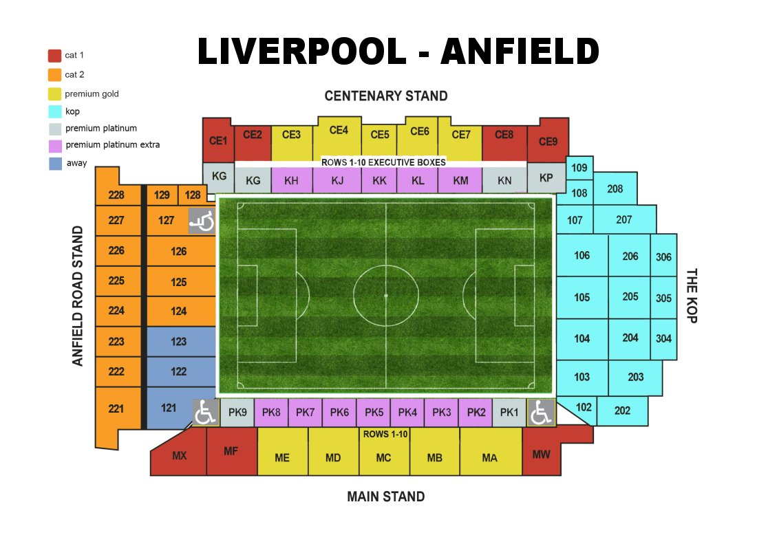 Football Stadium Floor Plan Liverpool F C Football Club Of The Barclay S Premier League