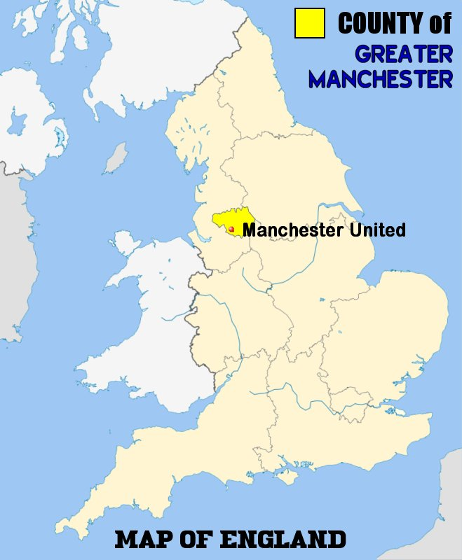 Manchester On World Map.Manchester United F C Football Club Of The Barclay S Premier League